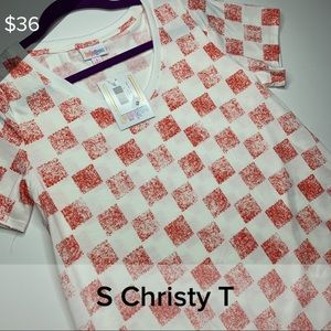 S Christy - red and white